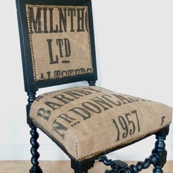 Vintage 1957 Doncaster Sack Grain Chair
