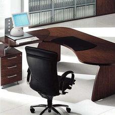 Modern Desks Tai Wood Contoured Office Desk by Uffix