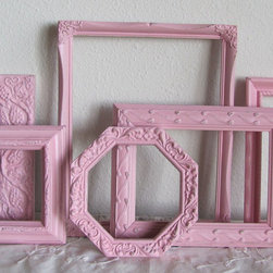 Pink Picture Frames, Shabby Chic Girls Room Nursery by The Shabby Chateau - A collection of frames for pictures and more can add a personalized flair to the room.