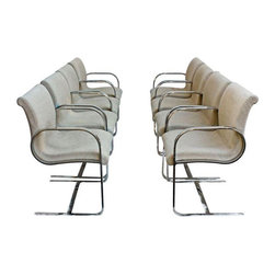 Brueton Mid-Century Dining Chairs - Set of 8 - Dimensions 21.0ʺW × 21.0ʺD × 31.0ʺH