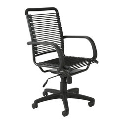 Euro Style - Bungie High Back Office Chair - Black/Graphite Black - Designed to fit your seat.  And your back.  And your work style.  With natural ventilation, the Bungies turn long hours of work into the comfort zone.  No napping!