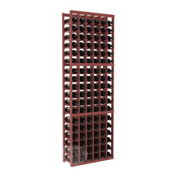 6 Column Standard Cellar Kit in Pine with Cherry Stain + Satin Finish - Six columns for bottle storage is a perfect solution for 9 cases of wine. The modular format ensures you can expand storage without worrying about new racks lining up properly. We construct every rack to our industry-leading standards. You'll love our racks. Guaranteed.