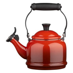 Le Creuset® Cherry Teakettle - Every morning, I religiously have my tea. This teakettle is beautiful and functional.