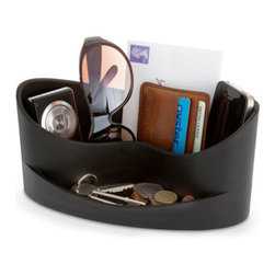 j-me designs - Casa Organizer , Black - Add some style to your desk with the Casa Organizer. This subtly stylish yet incredibly practical desk organizer keeps all your essentials conveniently stored together. The spacious rear section has the capacity to hold wallets, sunglasses, mobile phones, music players and more. The front holds smaller items such as loose change, keys, memory sticks & other pocket clutter.