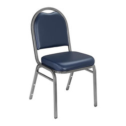 National Public Seating - 9200 Dome Vinyl Padded Stack Chair - Set of 2 - Set of 2. Products meet or exceed applicable ANSI/BIFMA standards. Features 0.88 in. square-tube. Plywood core. 18-gauge steel frame with 0.63 in. under seat and h-braces. Steel standard: ASTM A513. Foam standard: 1.8 lb. density, 46 ILD. 2 in. thick grade a foam. Double stitched cushion with spacious waterfall seat. Institutional grade fabrics rated to 30,000 double rubs or thick .80mm. Fabric and foam are Cal-117 rated. Back has convenient handhold for easier moving and stacking. Stacking bars and 12 plastic stack bumpers ensure stacking securely without damaging the attractive powder-coated frame finish. Stack 8-10 high with DY81 or DY9000 dollies. Cushion: 16 in. W x 16 in. D x 34 in. H. Seat: 16 in. W x 16 in. D x 19 in. H. Overall: 21 in. W x 18 in. D x 34 in. H (15 lbs.)