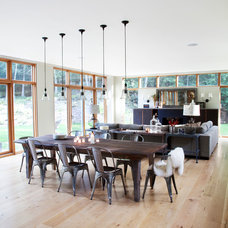 Contemporary Dining Room by Actual Size Projects