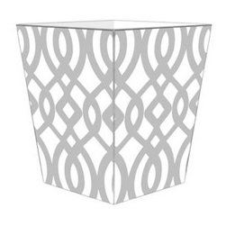 Marye-Kelley - Grey Madison Wastebasket - Grey Madison Wastebasket