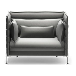 Vitra - Vitra Alcove Love Seat - Provide yourself with the perfect nook to curl up in, with this innovative love seat. Ronan and Erwan Bouroullec designed the nesting doll of sofas with this inviting piece, which will give you privacy and comfort you'll want to steal away into for hours.