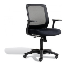 Jesper Office Furniture - Camilla Office Chair in Midnight - Features: