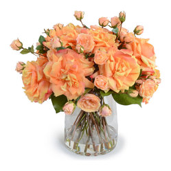 Salmon Roses Arrangement