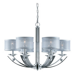 Triarch Lighting - Triarch International 39423 Aurora 6 Light Chandelier - Turn heads on your next remodel with this stylish chandelier. designs and manufactures quality lighting products that include exterior lighting, ceiling fixtures, wall lighting, lamps, and ceiling fans. Triarch Lighting products are produced with only high quality practices.