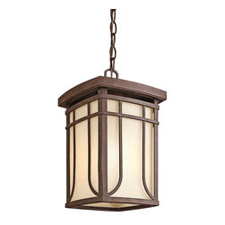 Kichler - Kichler Riverbank Outdoor Chain Hung Lighting Fixture in Bronze - Shown in picture: Outdoor Pendant 1-Light in Aged Bronze