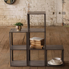 Eclectic Bookcases by Iron Accents