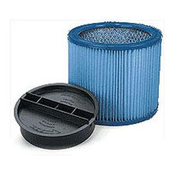 """Shop Vac - Shop-Vacuum Ultra Web Cartridge Filter for Wet or Dry - Ultra Web Cartridge Filter 5X More efficient. Nan fibers make clean up a snap. Easy on/off design Designed to combat your toughest challenge the Ultra-Web Cartridge Filter can be used for both wet and dry pick-up. Fits full size vacs. Does not fit Hang Up Vacs 5 Gallon Contractor Portable Floor master Plus All Around Plus. Heavy Duty Portable 1x1. Bulldog portable. mighty mini. mini hang up. hippo or all around with 1-1/2 or 2 Gallon tank sizes. Approximate size of cartridge: 8"""" diameter and 6.5"""" high. Up to 5 times more efficient. For small dry debris and wet materials like cold fireplace ash auto refinishing cement dust sawdust and drywall dust. Fits full size vacs."""