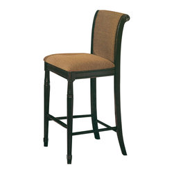 Canterbury Home Furnishing - Canterbury Kensington Bar Stool in Roasted Chestnut/ Antique Black [Set of 2] - Clean lines and undeniable style - the main theses of Kensington Collection. Canterbury Kensington Barchair reflects a design suitable for any kitchen, to any requirement. Indulge yourself in the pleasure to use high-grade furniture, created from high quality materials, embodied in perfect shape.