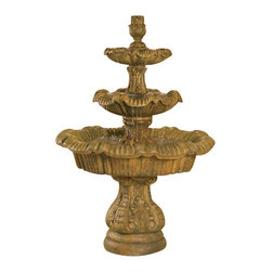 Italian 3-Tier Outdoor Fountain - Tall, Country Oak - Looking for a way to make your outside scenery more majestic looking and serene? With the Italian 3-Tier Outdoor Fountain, you exactly get that and more! It's a perfect addition to any home because of captivating image it projects to people who sees it. It's definitely a worthwhile treasure to have as it brings beauty to your garden.
