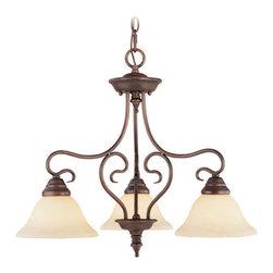 Livex Lighting - Livex Lighting 6133 Coronado 3 Light Semi-Flush Ceiling Fixture - Features: