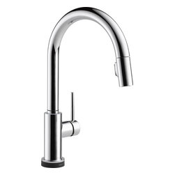 Delta - Delta 9159T-DST Trinsic Single Handle Pull-Down Kitchen Faucet Featuring Touch2O - Delta 9159T-DST Trinsic Single Handle Pull-Down Kitchen Faucet Featuring Touch2O® and Diamond Seal Technology in ChromeSleek, minimalistic design makes the Trinsic Kitchen Collection the perfect complement to today's modern home.  The touch operated kitchen faucet provides all the convenient functionality Touch2O® Technology has to offer by simply touching anywhere on the spout or handle to start or stop the flow of water.  Trinsic also features Delta's exclusive DIAMOND™ Seal Technology for worry-free, leak-free, lasting durability and MagnaTite™ docking keeps the kitchen pull-down spray wand firmly in place with a powerful integrated magnet, so it stays docked when not in use. This Collection delivers a high level of performance that can be trusted for years to come.Delta 9159T-DST Trinsic Single Handle Pull-Down Kitchen Faucet Featuring Touch2O® and Diamond Seal Technology in Chrome, Features:• Touch it on. Touch it off. You're sure to fall in love with just one touch. The intuitive tap technology enables you to turn the faucet on and off with just a touch anywhere on the faucet's body or handle. It's also cleaner - no need to touch the handle when your hands are dirty.