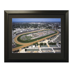 Frontgate - Framed Aerial Stadium Images - Our Framed Aerial Stadium Images make a great gift for the sports enthusiast. Choose from a large selection of college and professional stadiums, both current and classic. An excellent piece of sports memorabilia no matter who you root for. All pieces come with an engraved stadium name plate. Framed with elegant black wood.