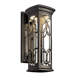 "Kichler - Kichler 49227OZLED Franceasi 18"" Energy Efficient LED Outdoor Wall Light - Kichler 49227 Franceasi LED Outdoor Wall Lantern"