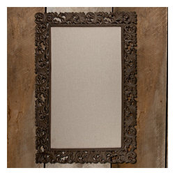 "Gracious Goods GG - Linen Office Bulletin Board with Aluminum Frame by the GG Collection - Post your priorities with pride on our Linen Office Bulletin Board with Aluminum Frame by the GG Collection. Enjoy its beauty and functionality in your office. * Dimensions: 25"" Wide x 37"" Tall"