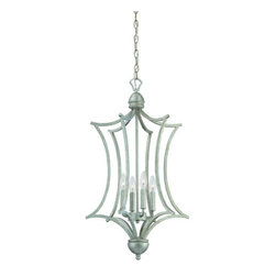 Thomas Lighting - Thomas Lighting SL8936 4 Light Caged Foyer Pendant from the Triton Collection - Transitional 4 Light Caged Foyer Pendant from the Triton CollectionFeatures: