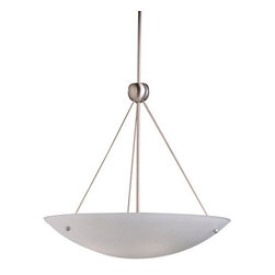 Kichler - Kichler 2754NI Family Space 4-Bulb Indoor Pendant with Bowl-Shaped Glass Shade - Product Features: