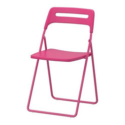 NISSE Folding Chair, Pink - Here is a simple way to add color to any spring or summer celebration. I really love its bright color and low price tag.