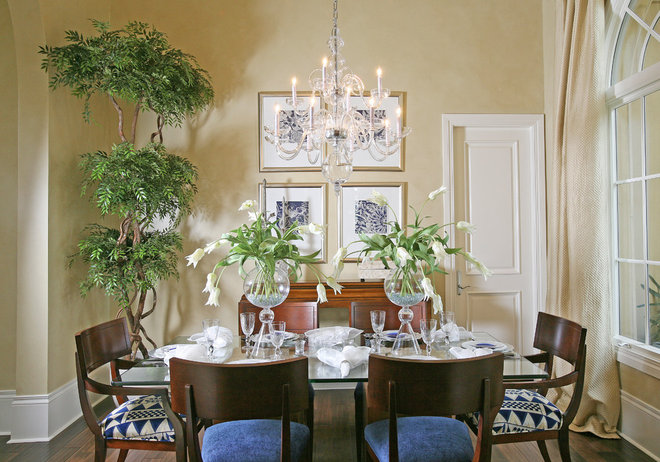 Tropical Dining Room by Naples Kitchen and Bath