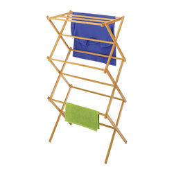 None - Whitmor Bamboo Folding Drying Rack - Bamboo is a sustainable and renewable resource that is designed with a modern and elegant look to co-ordinate with any decor. This bamboo drying rack features 11 drying rods and folds for easy storage when not in use.