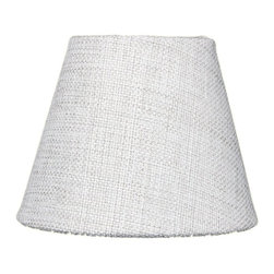 3x5x4 Khaki Burlap Pleated Clip-on Candlelabra Lampshade - Home Concept Signature Shades feature the finest premium fabric.