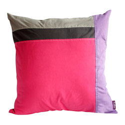 Blancho Bedding - Pink Lady Knitted Fabric Patch Work Pillow Floor Cushion  19.7 by 19.7 inches - Aesthetics and Functionality Combined. Hug and wrap your arms around this stylish decorative pillow measuring 19.7 by 19.7 inches, offering a sense of warmth and comfort to home buddies and outdoors people alike. Find a friend in its team of skilled and creative designers as they seek to use materials only of the highest quality. This art pillow by Onitiva features contemporary design, modern elegance and fine construction. The pillow is made to have invisible zippers, knitted fabric shells and fill-down alternative. The rich look and feel, extraordinary textures and vivid colors of this comfy pillow transforms an ordinary, dull room into an exciting and luxurious place for rest and recreation. Suitable for your living room, bedroom, office and patio. It will surely add a touch of life, variety and magic to any rooms in your home. The pillow has a hidden side zipper to remove the center fill for easy washing of the cover if needed.