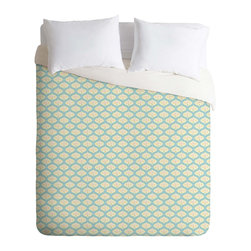 DENY Designs - DENY Designs Sabine Reinhart Into The Sky Duvet Cover - Lightweight - Turn your basic, boring down comforter into the super stylish focal point of your bedroom. Our Lightweight Duvet is made from an ultra soft, lightweight woven polyester, ivory-colored top with a 100% polyester, ivory-colored bottom. They include a hidden zipper with interior corner ties to secure your comforter. It is comfy, fade-resistant, machine washable and custom printed for each and every customer. If you're looking for a heavier duvet option, be sure to check out our Luxe Duvets!