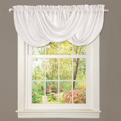 Lush Decor - Lush Decor Lucia White Valance - This beautiful window valance makes an excellent top piece to any window in your home. Featuring white curtains with a rod pocket installation,the valance creates a soft accent that will add character. The curtains are made of durable poly fabric.