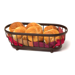 Spectrum Diversified Designs - Ashley Bread Basket - Bronze - The Ashley Bread Basket is ideal for serving bread, rolls and muffins. A favorite hospitality item for restaurants and hotels. Made of sturdy steel, with a bronze finish.
