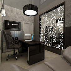 Contemporary Home Office by S&A Decor