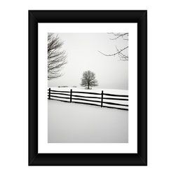 Linda McManus - Fenced In, 12x8, Framed - Photos are meant to last a lifetime, so we design our products to do the same. Each image is carefully set by hand inside professional-quality matting, wrapped perfectly into its wooden frame and finished with a thick plate of real glass. One inch solid wood frame, professional matting, shatter proof acrylic, and Kodak archival photo paper combine to create a clean, classic look.