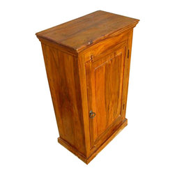Wooden Kitchen storage Chest Cabinet Side End Tea Table - Grand Solid Indian Rosewood Kitchen Cabinet. This is a wonderful spacious kitchen storage cabinet.