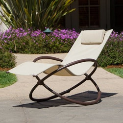 RST Outdoor Orbital Outdoor Lounger - Defy gravity with the RST Outdoor Orbital Outdoor Lounger. Constructed from durable steel material, this futuristic patio lounge chair offers state-of-the-art comfort and modern style that will enliven any patio, deck, garden or poolside space. The quick-dry sling seat features weather-resilient woven PVC material that won't fade from sun exposure. For easy storage, this awesome alfresco lounger collapses to a mere eight-inches wide.Now, you're probably wondering how it works. The unique zero-gravity design of this lounger allows you to kick your legs all the way back, parallel with your head for maximum comfort and relaxation. A built-in safety stop ensures you won't lean back too far and the soft armrests complete your comfort.About Red Star TradersSince 2004, Red Star Traders LLC (made up of RST Outdoor, RST Living and FlowWall System) has designed and manufactured products in the outdoor living, home decor and wall-based organizational products categories. Red Star is a direct import, product marketing company. Red Star categories of focus include jewelry boxes, men's gifts & furnishings, and RTA furniture. Their team of marketing and design professionals can help identify market trends and deliver products that meet target retails with maximum perceived value. Red Star's network of manufacturing partners and overseas production managers insure integrity in production and strict quality control.