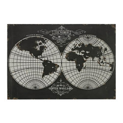Sterling Industries - World Map-Laser Cut Map Of The Globe - World Map-Laser Cut Map Of The Globe