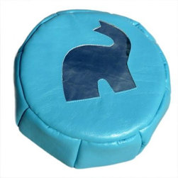 Elephant Eco Petit Poof - A kid-size pouf for the kids room makes seating fun and comfy.