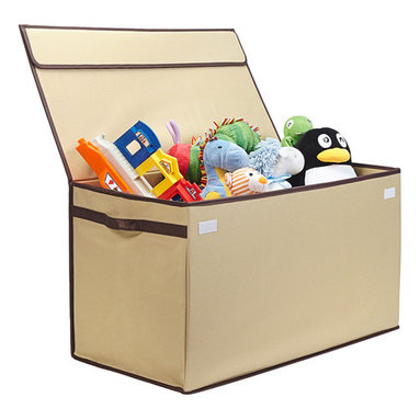 Great Useful Stuff - Collapsible Toy Chest - Kids' birthdays and holidays may be fun, but what do you do with all those toys your child receives? Keep them easily accessible while still hidden from view with this collapsible toy chest. The durable construction allows you to fill it up to the brim with your little one's favorite puzzles, books and stuffed animals.