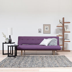 Tropeca Convertible Sofa - Tropeca Convertible Sofa, Brosna Bookcase, Otra Occasional Table, Siflora Rug