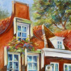 """""""Dutch Gables"""" (Original) By Chris Brandley - I Lived In Holland For A Few Years As A Child. 20 Years Later I Had To Opportunity To Go Back With My Husband. It Was So Special For Him To See A Portion Of Where I Grew Up."""