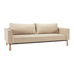 Innovation USA - Innovation USA | Cassisus Sleek Sofa, Wood Base - Quickship - Design by Per Weiss, 2013.