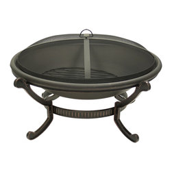 Outdoor Classics - Large Round Cast Iron Bronze Fire Pit -