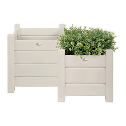 Esschert Design - Square Planter Box, Set of 2 - Expand in the farm folklore collection to make any garden appeal with a country cottage setting! These square planters are perfect for shrubs, plants, flowers or anything else your green thumbs choose to grow! Set of 2. 12x12 and 16x16 inches.