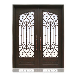 Iron Collection | 3011 | 22-27 - Iron, Hardware: 2.- Flush Bolts with Extension Arms, 2.- Roller Catches,  Hinges: 6.- Heavy Duty Hinges,  Exterior Door
