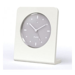Punkt. - Punkt. AC 01 Alarm Clock - White - Punkt. AC 01 offers you the pleasure of going back to the traditional alarm clock for everyday use. Why have your cell phone lying on your bedside table, when you can be woken up by a superb design object such as the AC 01? No fumbling around in the dark, no radiation emissions, and no unwanted calls in the middle of the night; just the pleasure of trusting your sleeping hours to a wonderfully simple object that, thanks to its extraordinary simplicity, will delight you every time you wake up to it. Designed by Jasper Morrison