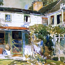 """Art MegaMart - Frederick Childe Hassam Back of the Old House - 18"""" x 27"""" Premium Canvas Print - 18"""" x 27"""" Frederick Childe Hassam Back of the Old House premium canvas print reproduced to meet museum quality standards. Our museum quality canvas prints are produced using high-precision print technology for a more accurate reproduction printed on high quality canvas with fade-resistant, archival inks. Our progressive business model allows us to offer works of art to you at the best wholesale pricing, significantly less than art gallery prices, affordable to all. We present a comprehensive collection of exceptional canvas art reproductions by Frederick Childe Hassam."""